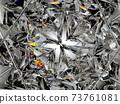 Gemstone diamond or shiny glass triangular texture kaleidoscope 73761081