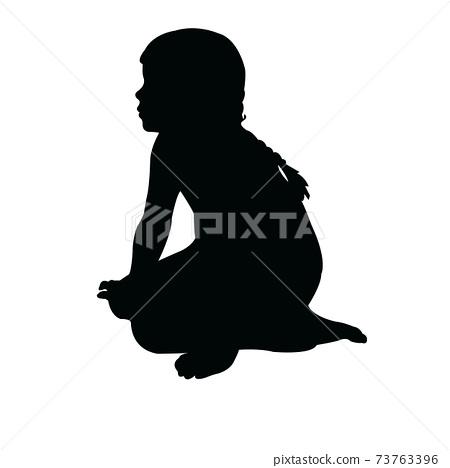a girl body silhouette vector 73763396