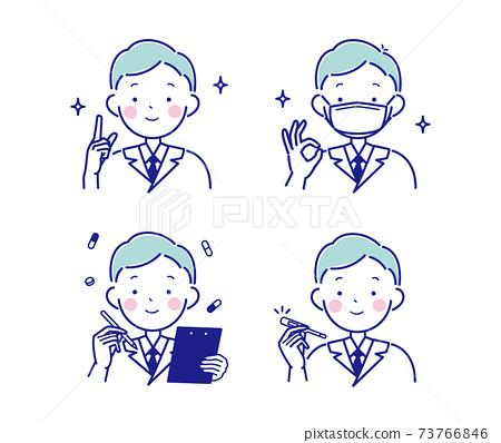 一位男醫生的插圖 73766846