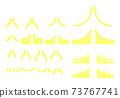 화살표 그래프 아이콘 세트 노란색 73767741