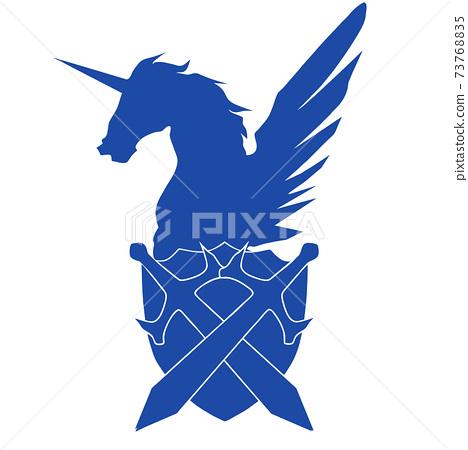 飛馬徽章_藍色 73768835