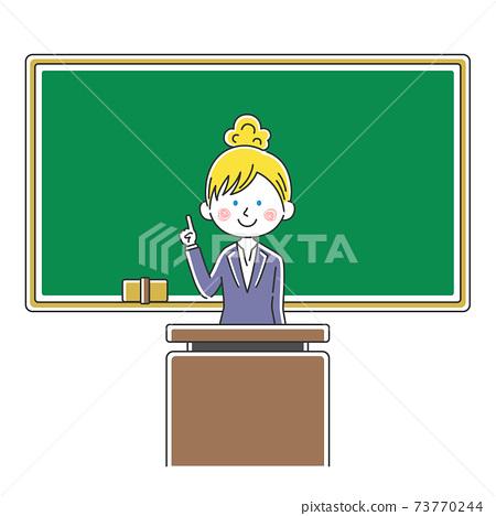 上一堂課的白人女老師的插圖 73770244