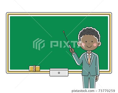 上一堂課的黑人男老師的插圖 73770259