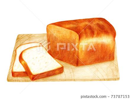 식빵 그림 (수채화 물감) 73787153
