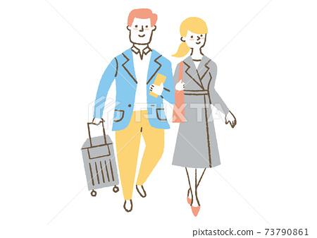 男人和女人去旅行 73790861