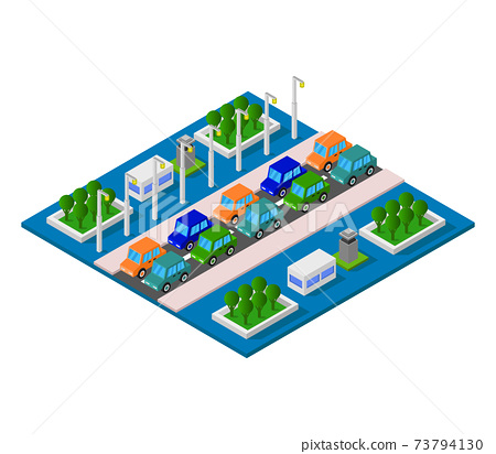 isometric road station 73794130