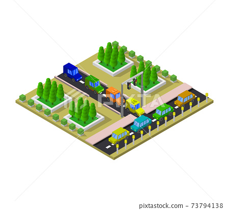 isometric road station 73794138