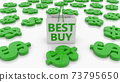 Shopping bag with best buy concept 73795650