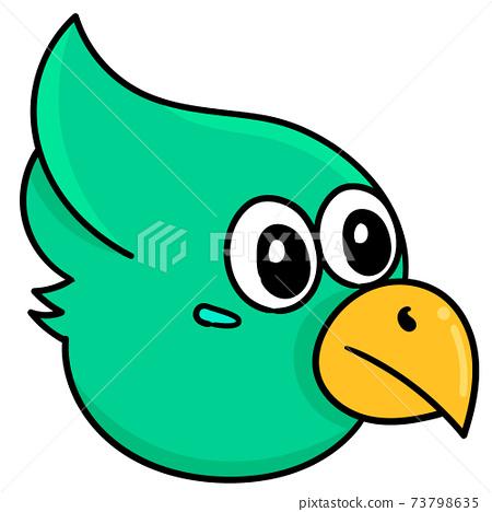 cartoon animal head eagle bird, doodle icon image kawaii 73798635