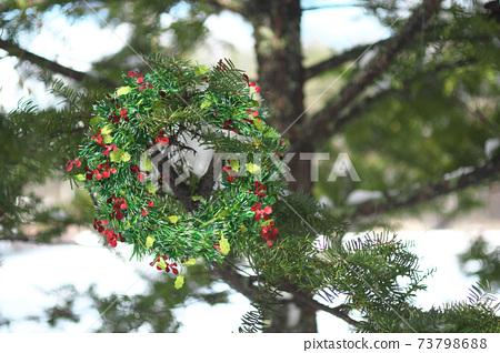 聖誕三維浮雕聖誕花環 73798688