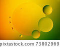 Oil drops on a water surface. 73802969