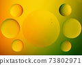 Oil drops on a water surface. 73802971