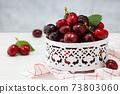 Fresh ripe cherries. 73803060