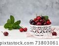 Fresh ripe cherries. 73803061