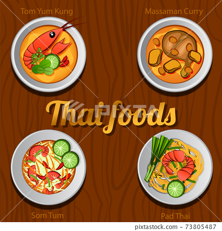 Four Thai delicious and famous food 73805487