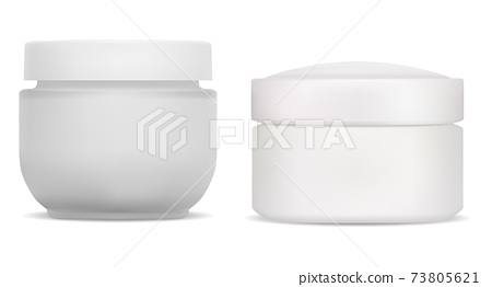 Cream jar. plastic cosmetic container face beauty 73805621