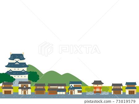 城堡城鎮風格的日本城市景觀 73819579