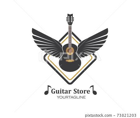 guitar icon logo vector illustration design 73821203
