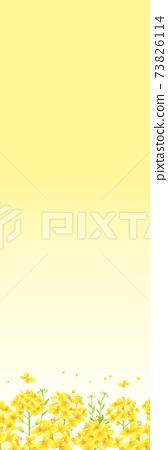 유채 꽃의 일러스트 노란색 배경 (세로 깃발 깃발 600 × 1800mm 비율) 73826114