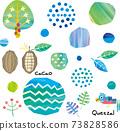 背景透明叢林和可可圖素材藍色 73828586