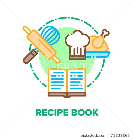 Recipe Book Vector Concept Color Illustration flat 73832868