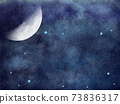 A beautiful and magical view of fullmoon and stars on the sky. illustration  73836317