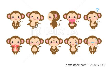 猴子插圖素材 73837547