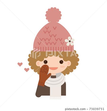 非洲的頭髮叫針織帽的女人 73839731