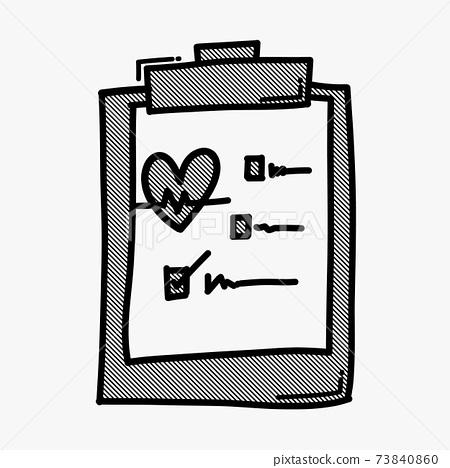 Check list doodle vector icon. Drawing sketch illustration hand drawn line eps10 73840860