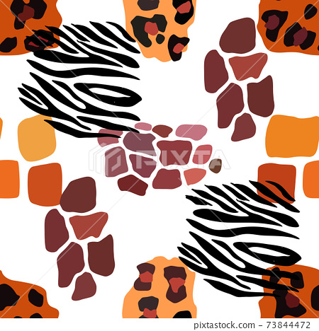 Animal mix print vector seamless pattern. Abstract background 73844472