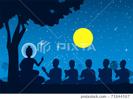 Lord of Buddha sermon to five ascetics and was enlighten become first monk of Buddhism 73844507