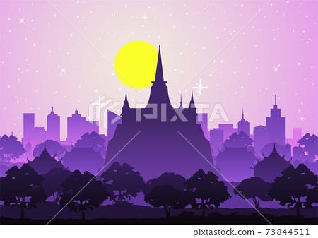 golden mountain temple or Saket,famous landmark of Thailand 73844511