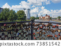 Bridge on Fish Village embankment in Kaliningrad 73851542