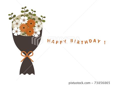 꽃다발 생일 카드 73856865