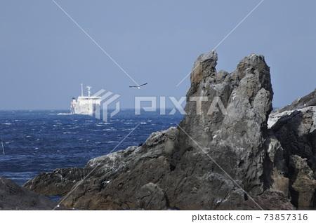 心陸輪渡接近利iri島押上港 73857316