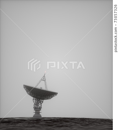 Giant Satellite Dish Alien Environment 73857326