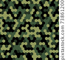 Hexagon Forest Camouflage seamless patterns 73861200