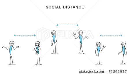 감염증 대책과 소셜 디스턴스 인물과 커뮤니케이션 73861957