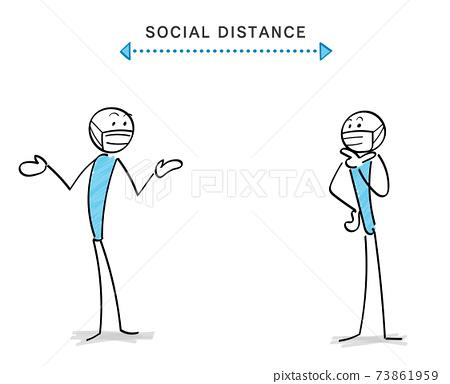 감염증 대책과 소셜 디스턴스 인물과 커뮤니케이션 73861959