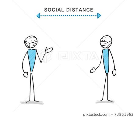 감염증 대책과 소셜 디스턴스 인물과 커뮤니케이션 73861962