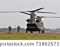 CH-47 transport helicopter landing at Ground Self-Defense Force Tachikawa station 73862673