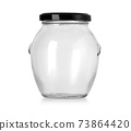 empty glass jar for food and canned food 73864420