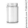 Empty glass jar isolated 73864427