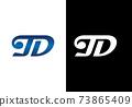 Initial Monogram Letter T D Logo Design Vector Template. T D Letter Logo Design 73865409