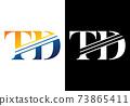 Initial Monogram Letter T D Logo Design Vector Template. T D Letter Logo Design 73865411
