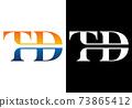 Initial Monogram Letter T D Logo Design Vector Template. T D Letter Logo Design 73865412