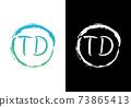 Initial Monogram Letter T D Logo Design Vector Template. T D Letter Logo Design 73865413