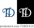 Initial Monogram Letter T D Logo Design Vector Template. T D Letter Logo Design 73865414