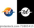 Initial Monogram Letter T D Logo Design Vector Template. T D Letter Logo Design 73865415