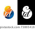 Initial Monogram Letter T D Logo Design Vector Template. T D Letter Logo Design 73865416